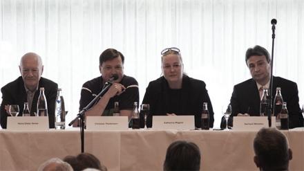v.l.n.r.: Heinz Dieter Sense, Christian Thielemann, Katharina Wagner, Gerhard Wiesheu