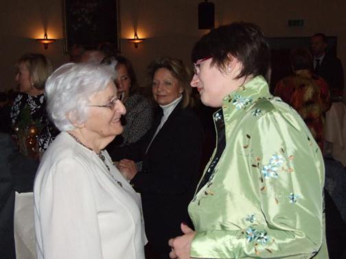 Ina Besser-Eichler mit Verena Lafferentz beim Festkonzert zu Verenas 90. Geburtstag