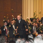 Daniel Barenboim conducts the concert for the 60th anniversary.